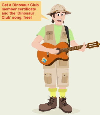 Get a Dinosaur Club member certificate and the 'Dinosaur Club' song, free!