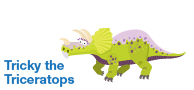 Tricky the Triceratops